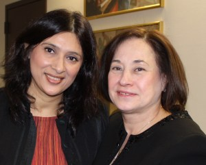 Loveleen Rihel Brenna og Sara Manzano-Diaz